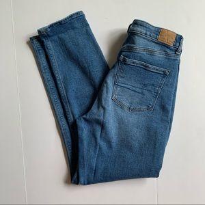 American Eagle Medium Wash Mom Jeans
